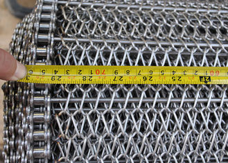Balance Wire Mesh Conveyor Belt For Annealing Furnace , Heat Resistant