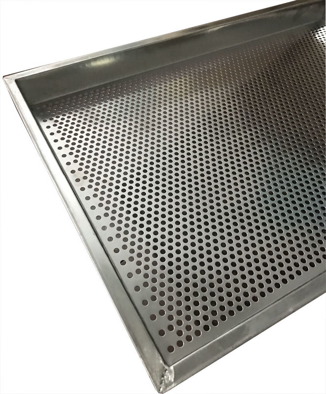 316  Stainless Steel Mesh Tray Oven Metal Perforatted Baking 2.0mm Thickness